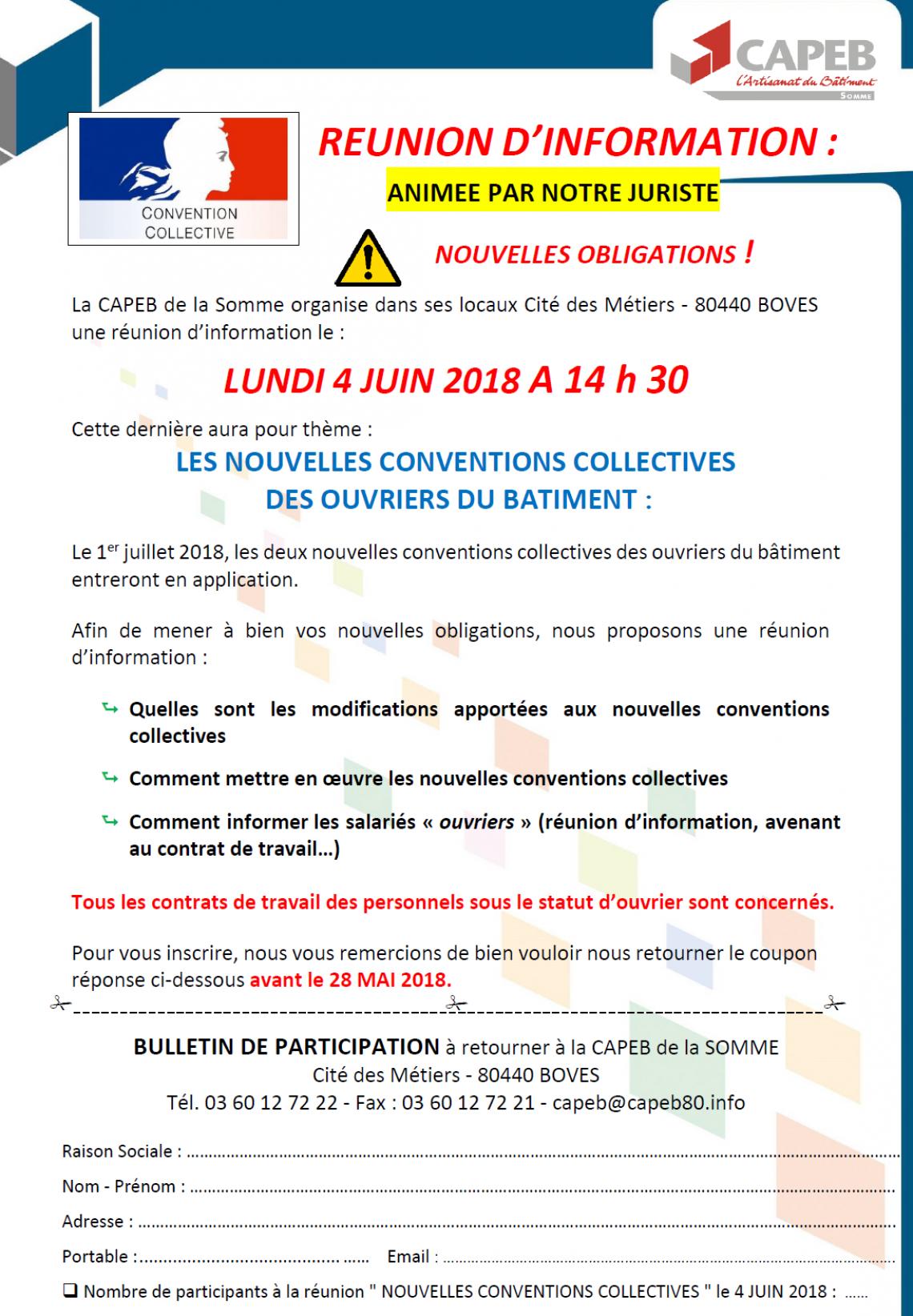 Capeb Reunion Sur Les Nouvelles Conventions Collectives Des