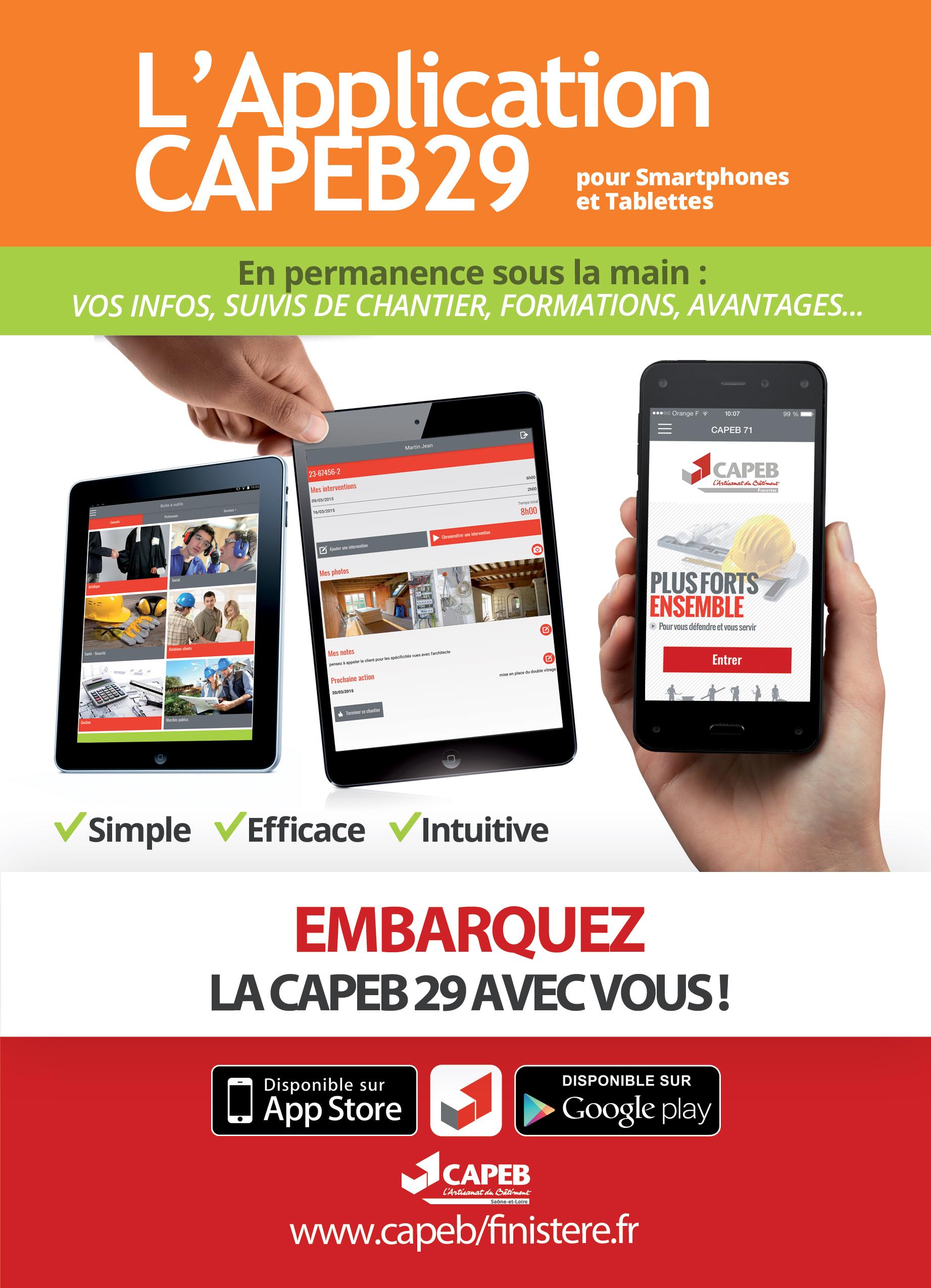 L'Appli CAPEB 29