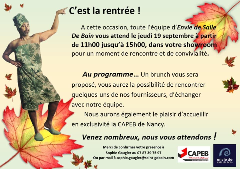 Capeb C Est La Rentree Chez Envie De Salle De Bain
